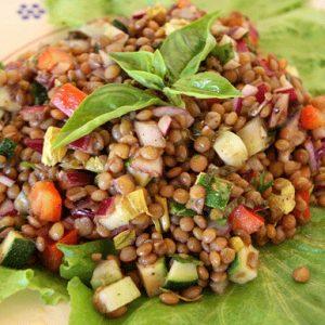 lentilsaladclose